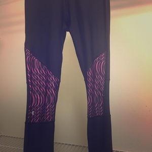 Under armour black and pink leggings